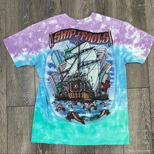 Liquid blue Gratefull Dead T-shirt tie dyed